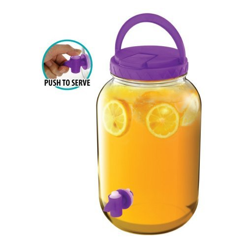 1 Gallon Beverage Dispenser Purple