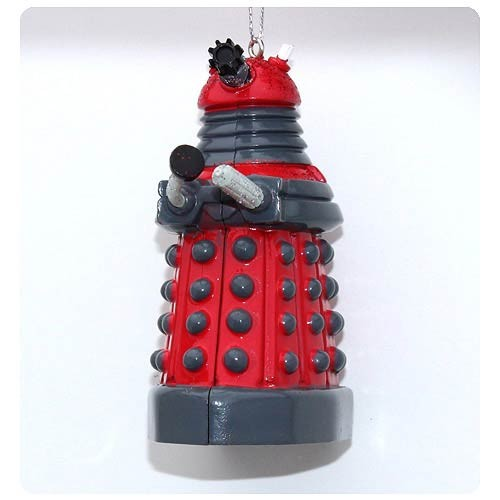 Doctor Who Red Dalek Blow Mold Christmas