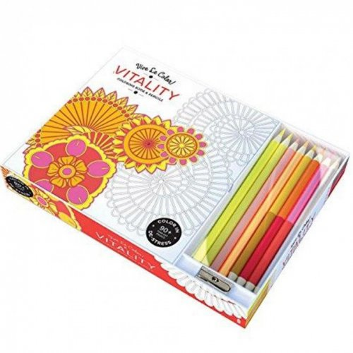 Vitality Adult Coloring Book W/pencils