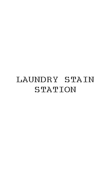 Laundry Stain Station