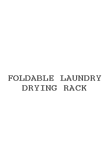 Foldable Laundry Drying Rack