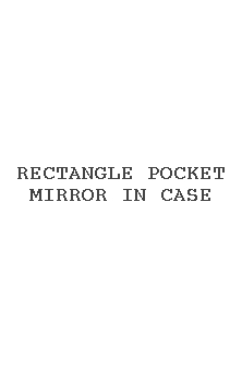 Rectangle Pocket Mirror In Case