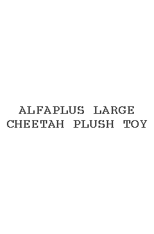 Alfaplus Large Cheetah Plush Toy