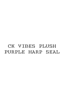 Ck Vibes Plush Purple Harp Seal