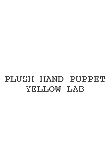 Plush Hand Puppet Yellow Lab