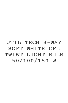 Utilitech 3-way Soft White Cfl Twist Light Bulb 50/100/150 W