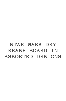 Star Wars Dry Erase Board In Assorted Designs