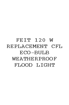 Feit 120 W Replacement Cfl Eco-bulb Weatherproof Flood Light