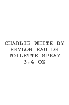 Charlie White By Revlon Eau De Toilette Spray 3.4 Oz