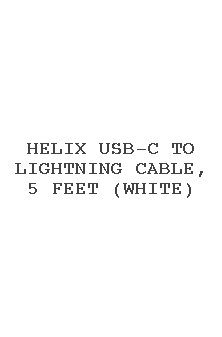 Helix Usb-c To Lightning Cable, 5 Feet (white)