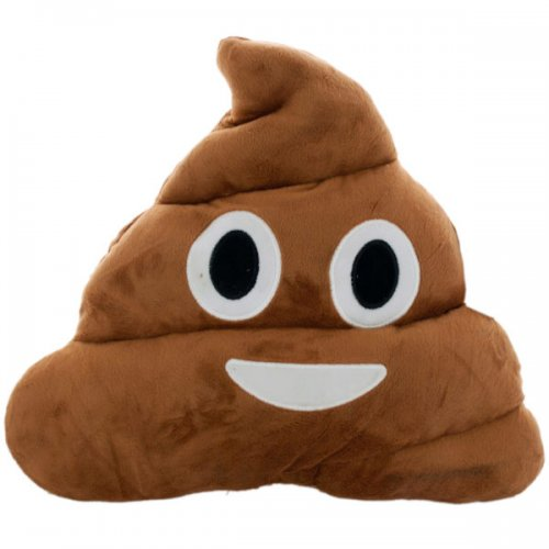 Poo Emoticon Plush Pillow