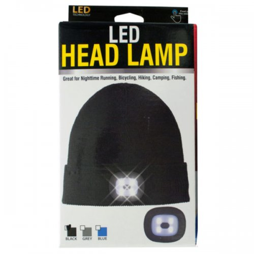 Unisex Led Head Lamp Beanie