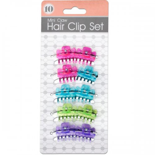 Colored Mini Claw Hair Clip Set