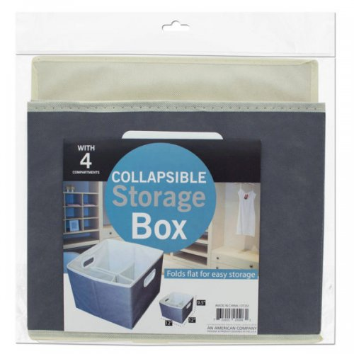 Small Collapsible Storage Box With 4 Compartments