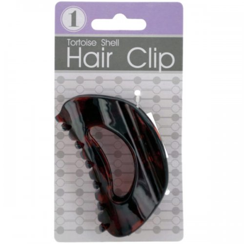 Rounded Tortoise Shell Claw Hair Clip