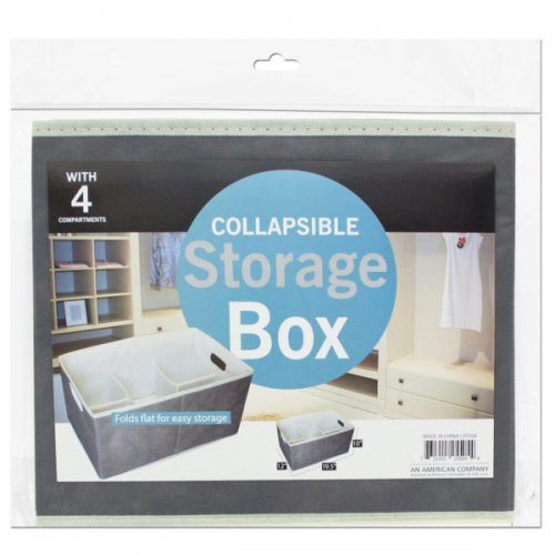 Collapsible Storage Box With 4 Compartments