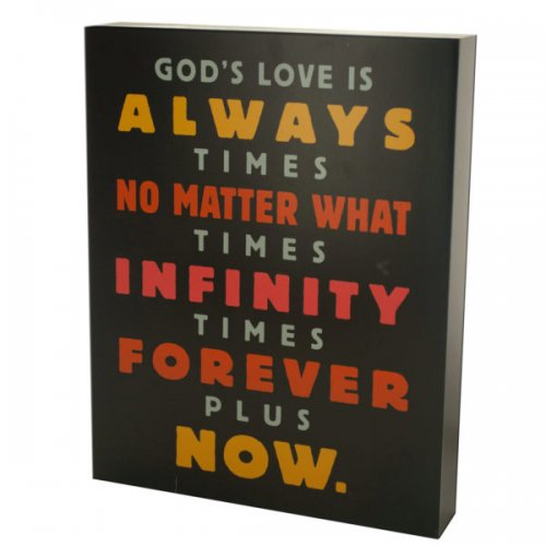 God's Love Is Infinite Box Print Wall Art