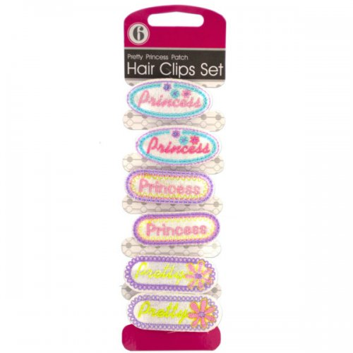 Pretty Princess Patch Hair Clips Set