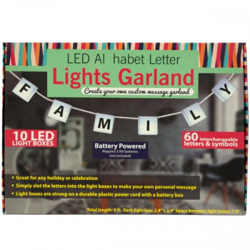 Led Alphabet Letter Lights Garland