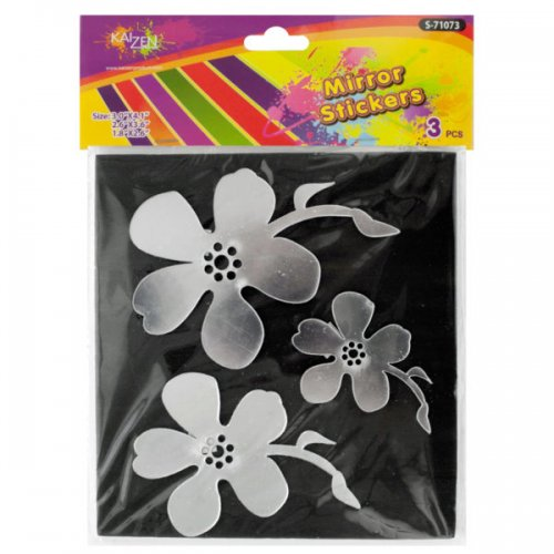 Mirror Flower Wall Stickers