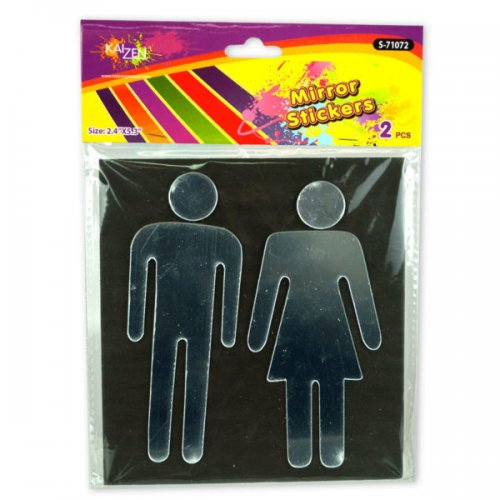 Mirror Man Woman Wall Stickers