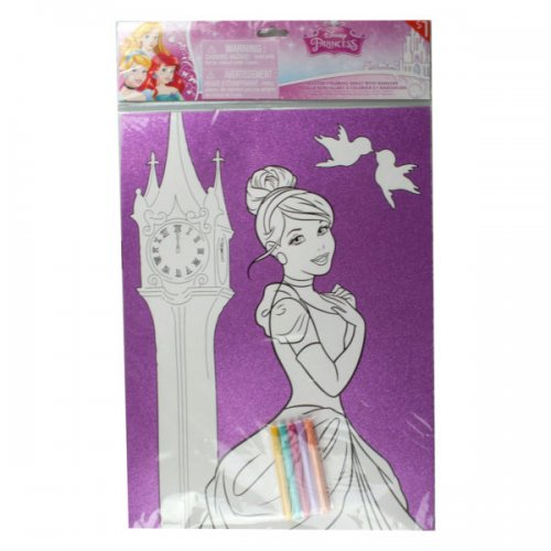 Disney's Princess And Frozen Glitter Poster With 5 Mark