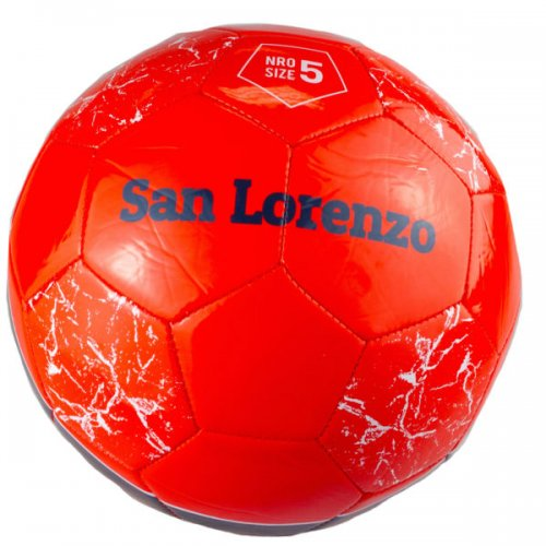 Size 5 Argentina San Lorenzo Red & Black Soccer Ball