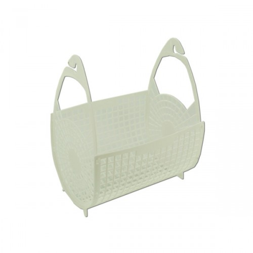 Clothesline White Peg Basket