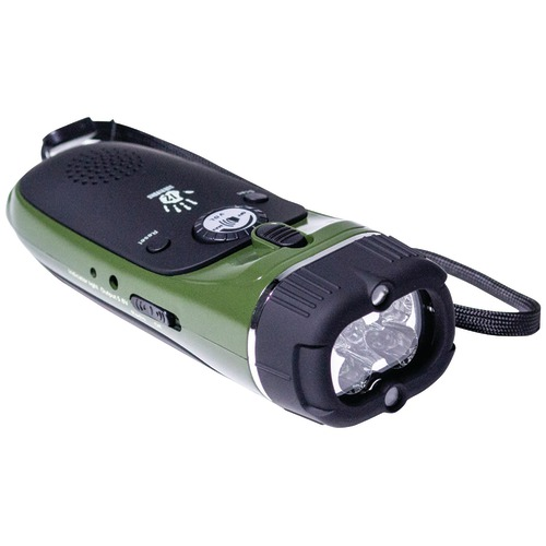 12 Survivors Emergency Hand Crank Radio And Flashlight