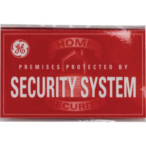 Ge Self-adhesive Security Decals, 5 Pk