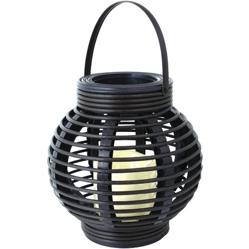 Northpoint Rattan Basket Led Candle (black)