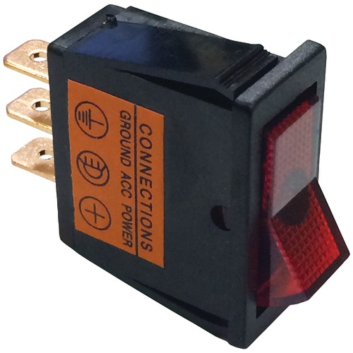 Battery Doctor On And Off Red Illuminated 20-amp Rocker For 12mm