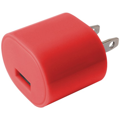 Iessentials 1-amp Usb Wall Charger (red)
