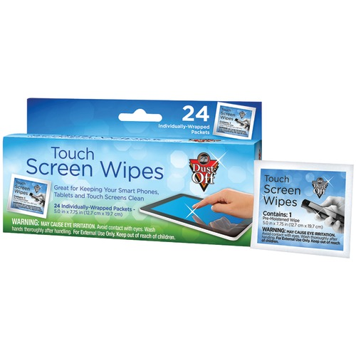 Dust Off Touchscreen Wipes (24-ct)