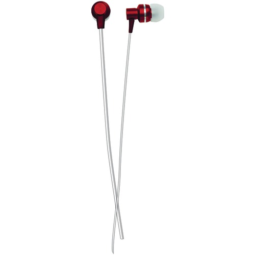 Naxa Metallix Isolation Stereo Earbuds (red)