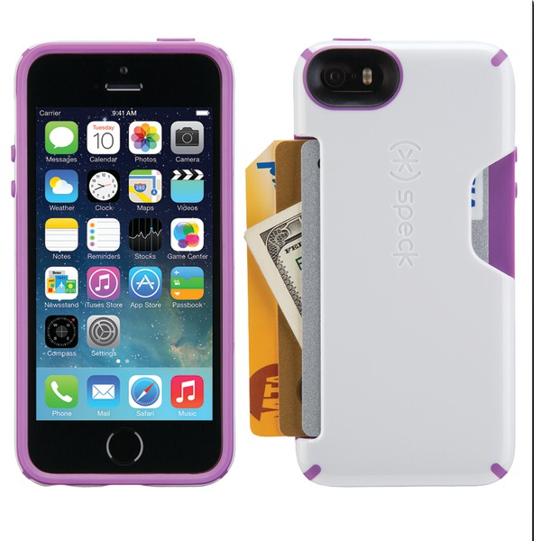 Speck Candyshell Card Case For Iphone 5 And 5s (white And Revolu
