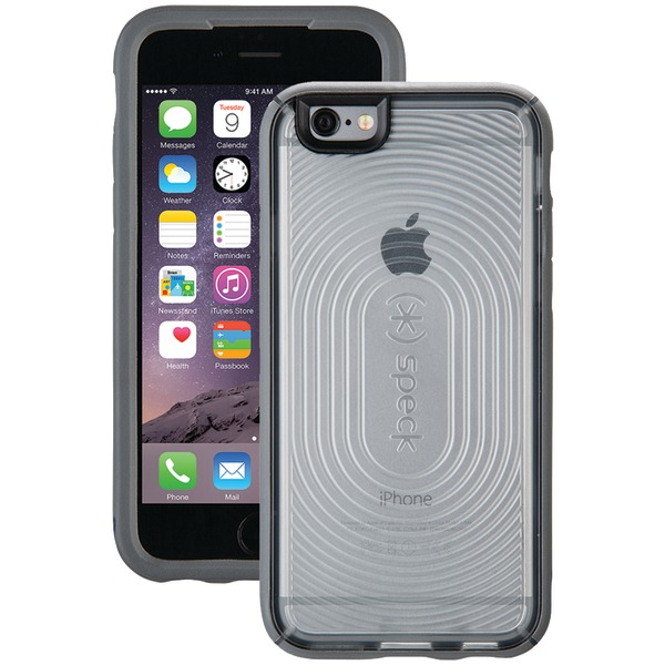 Speck Mightyshell Case For Iphone 6 And 6s (clear And Slate Gray