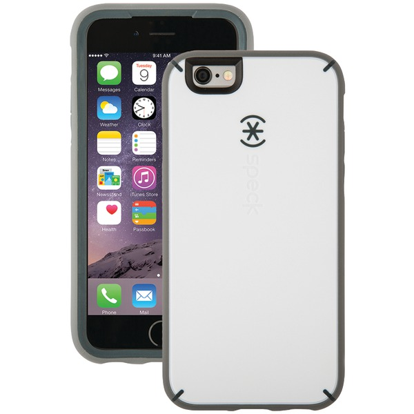 Speck Mightyshell Case For Iphone 6 And 6s (white And Charcoal G