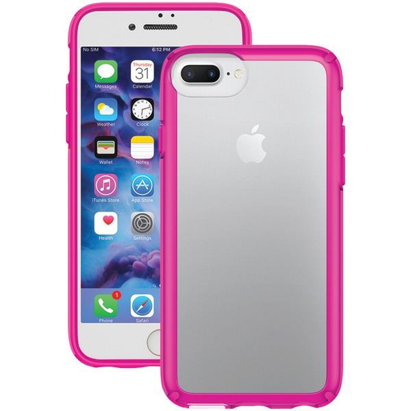 Speck Gemshell Case For Iphone 7 Plus (clear And Lipstick Pink)