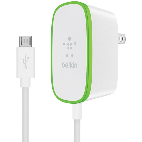 Belkin Home Charger With Hardwired 6ft Micro Usb Charging Cable