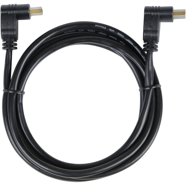 Rca Hdmi Cable With 90deg Connector, 6ft (dual Connectors)