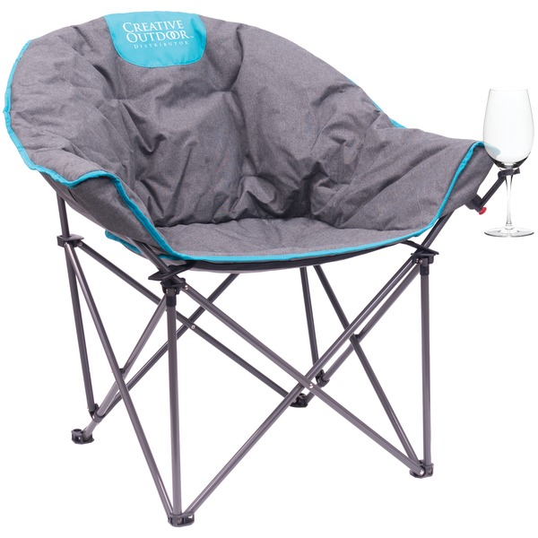 Creative Outdoor Folding Wine Bucket Chair (gray And Teal)