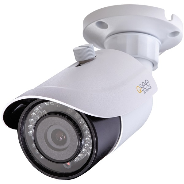Q-see 4k Ultra Hd Add-on Ip Bullet Camera With 100ft Night Visio
