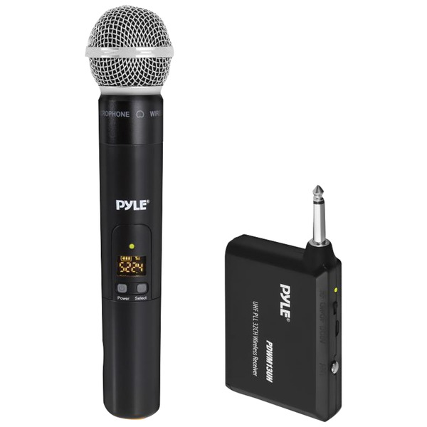 Pyle Uhf Wireless Microphone System With Handheld Microphone,