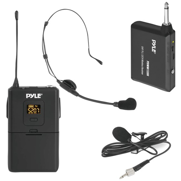 Pyle Wireless Microphone System Beltpack Transmitter With Headse