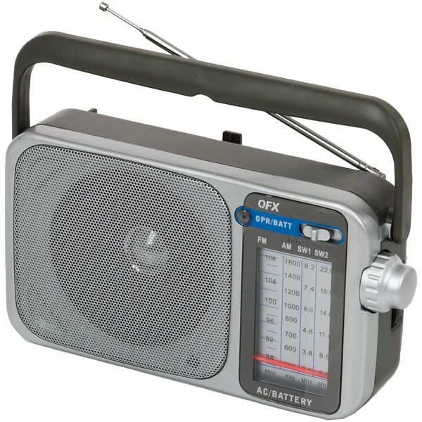 Qfx Retro Am And Fm And Sw1 And Sw2 Portable Radio