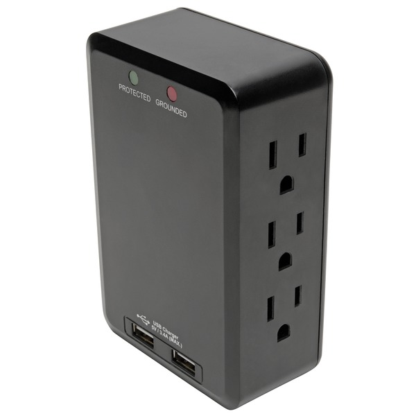Tripp Lite Protect It! 6-outlet Side-load Surge-protector Wall T