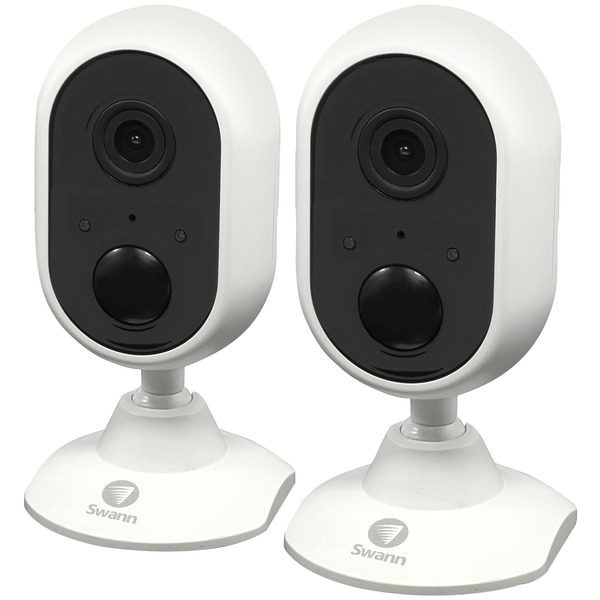 Swann 1080p Indoor Wi-fi Camera With Alexa Voice Control (2 Pk)
