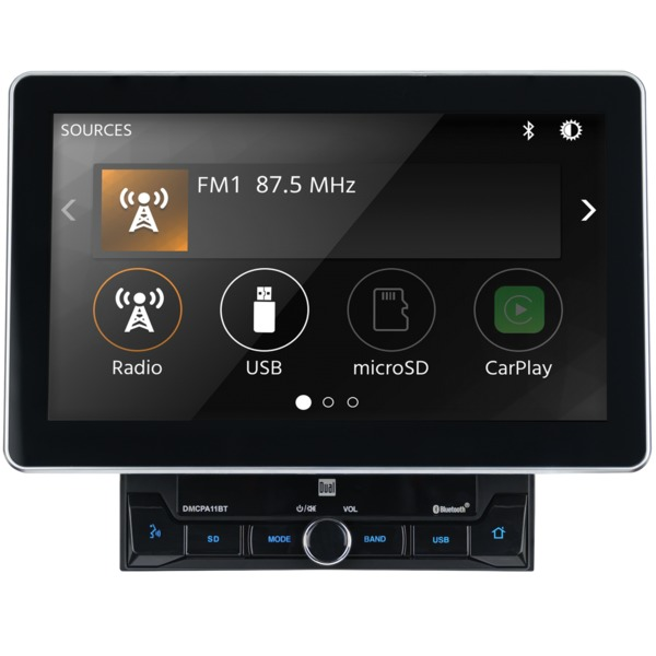 Dual 10.1-inch Double-din In-dash Mechless Receiver With Bluetoo