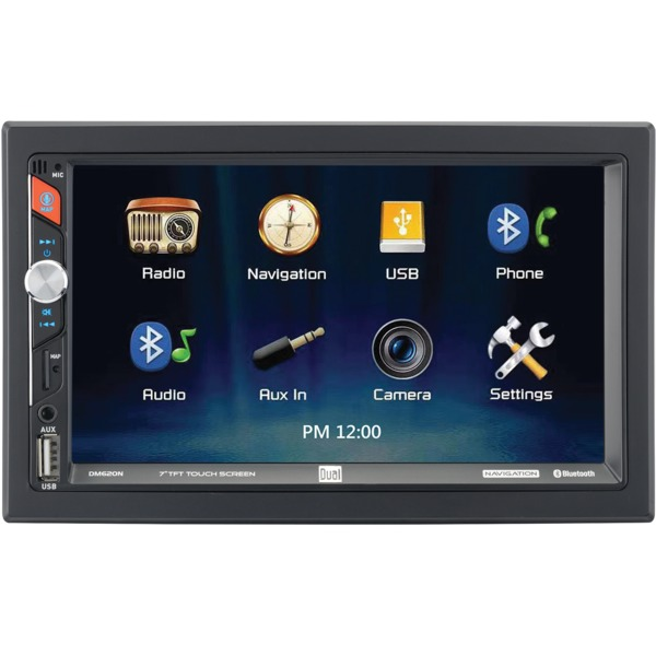 Dual 7-inch Double-din In-dash Mechless Receiver With Built-in N